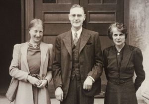 Imogen Holst (left) during her CEMA years with Sir Stanley Marchant and Mary Ibberson