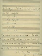 A Birthday Part-Song for Winsome (1947) [Copyright Holst Foundation]