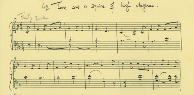English folk-tunes arranged for piano (?1950s or 1960s): There was a squire of high degree [Copyright Holst Foundation]